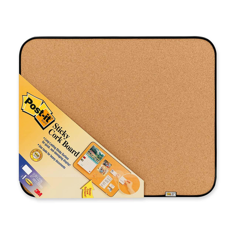 "3M 558 (18""X23"") Post It Memoboard - Brown"