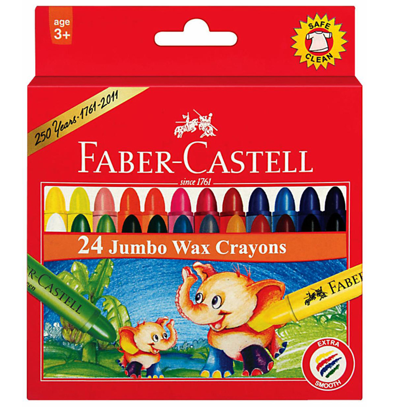 Faber Castell 1224 24 Colour Wax Crayon