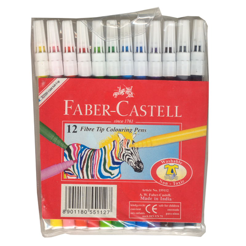 Faber Castell Twin Tip Markers 12S