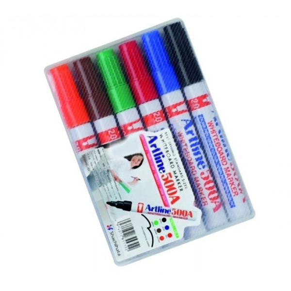 Artline 500A Whiteboard Marker 1x6 Colors