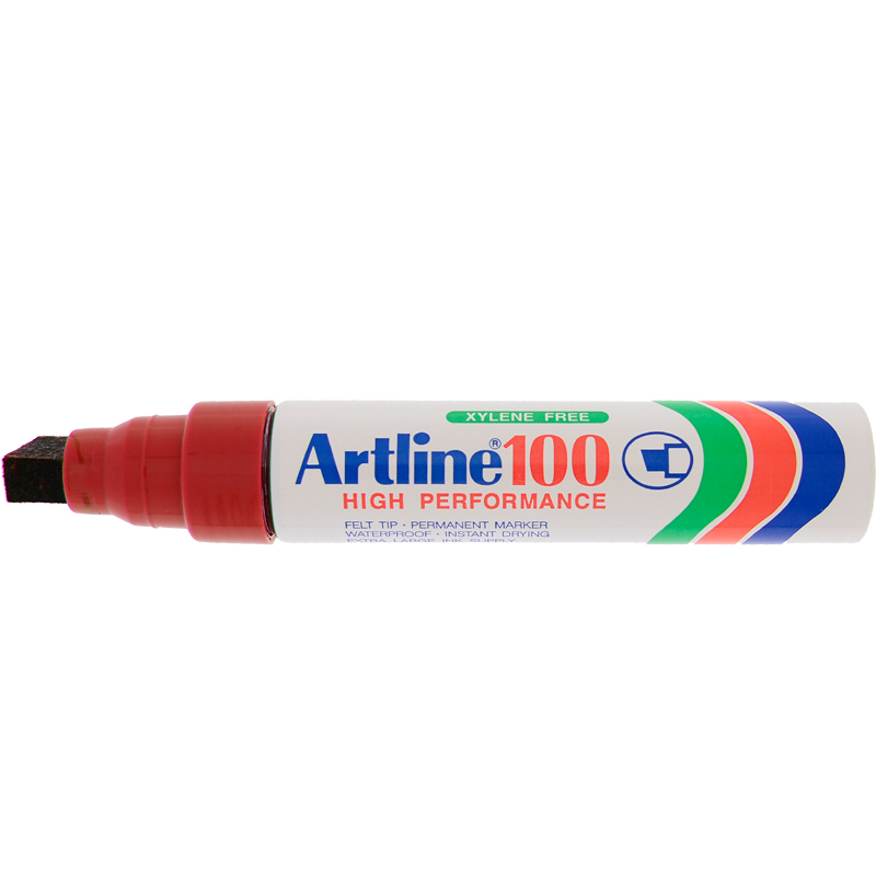 Artline 100 Marker Pen - Red