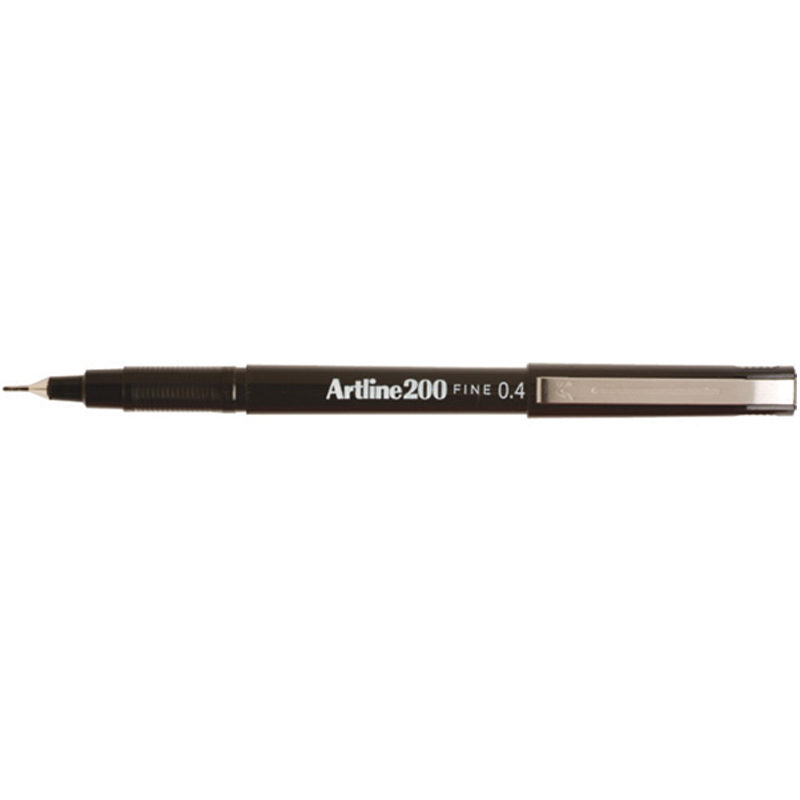 Artline 200 0.4mm Sign Pen - Black