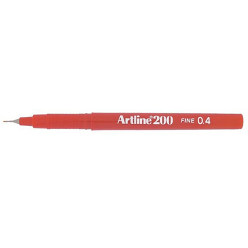 Artline 200 0.4mm Sign Pen - Red