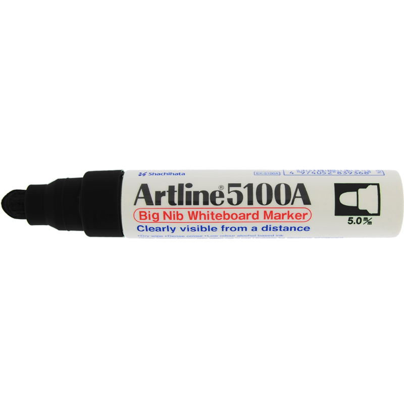 Artline 5100 Big Nib White Board - Black