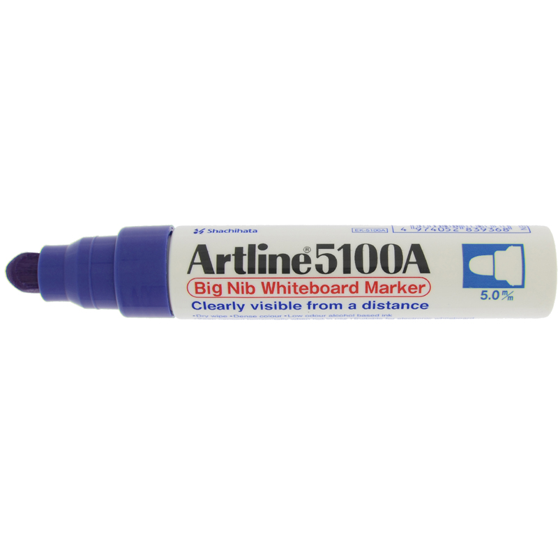 Artline 5100 Big Nib White Board - Blue