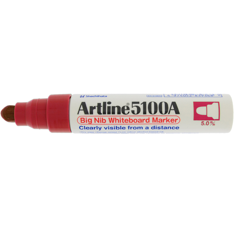 Artline 5100 Big Nib White Board Marker - Red