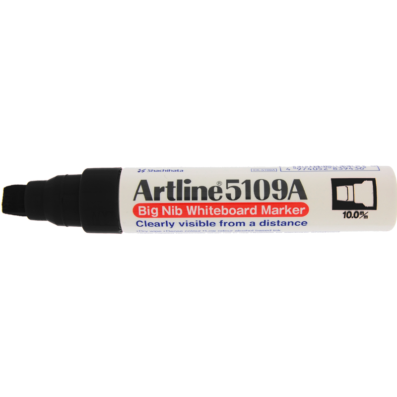 Artline 5109 Big Nib White Board Marker - Black