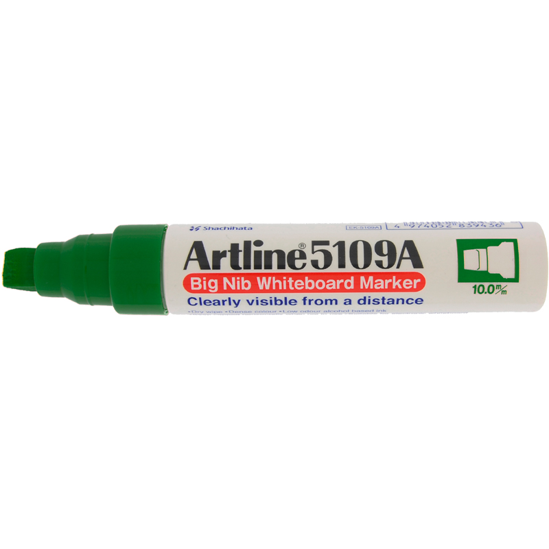 Artline 5109 Big Nib White Board Marker - Green