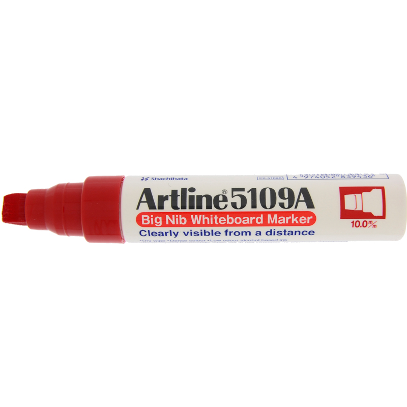 Artline 5109 Big Nib White Board Marker - Red