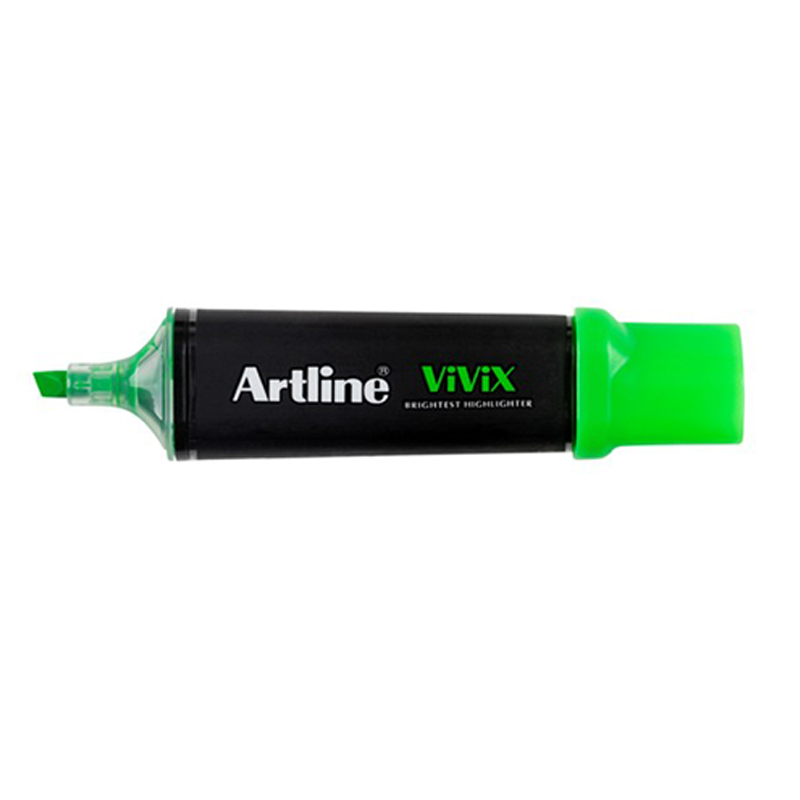 Artline 670 Vivix Highlighter - Fluo Green