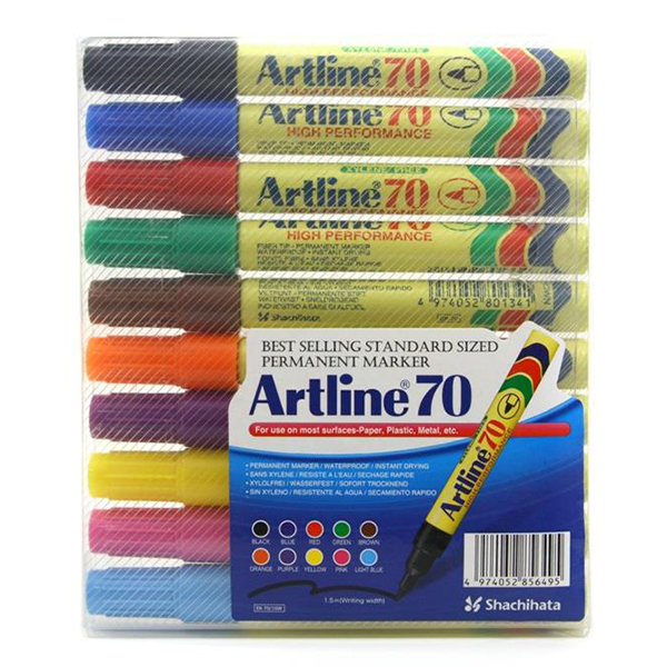 Artline 70 Marker 1x10 Color