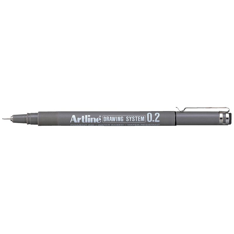 Artline 0.2mm Drawing System - Black