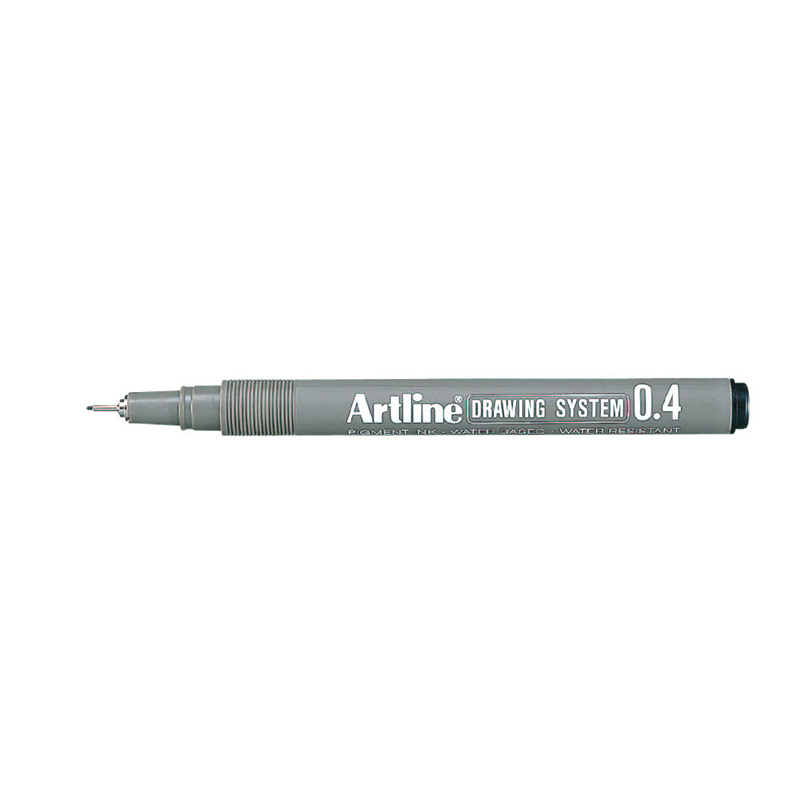 Artline 0.4mm Drawing System - Black