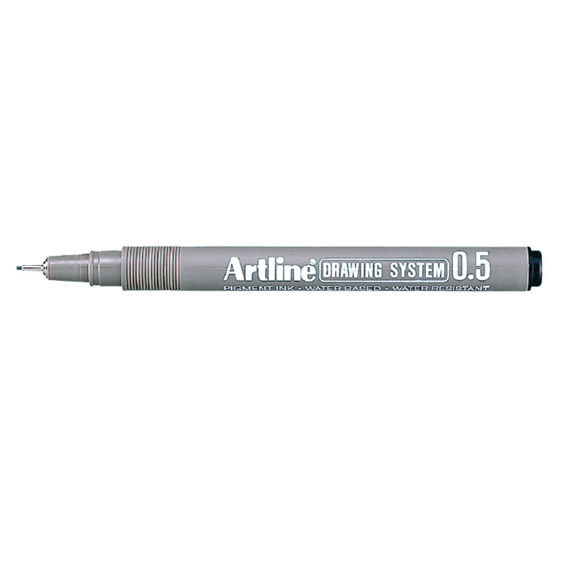 Artline 0.5mm Drawing System - Black