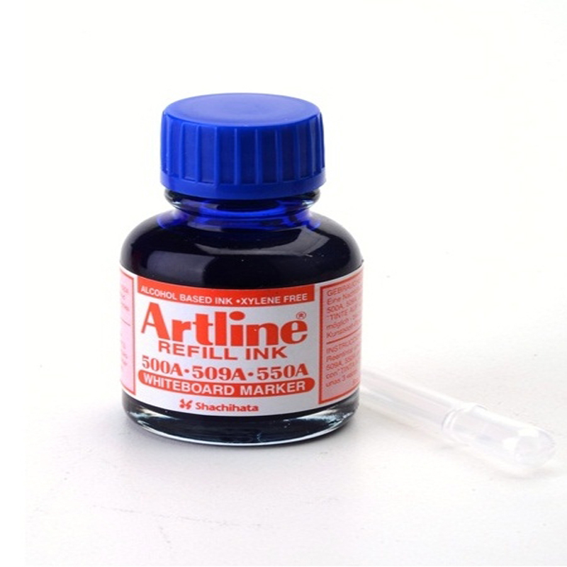 Artline Whiteboard Refill Ink 20cc Blue