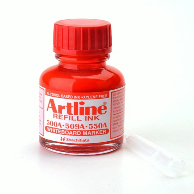 Artline Whiteboard Refill Ink 20cc Red