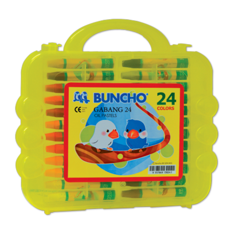 Buncho Gabang Oil Pastel 24 Colour