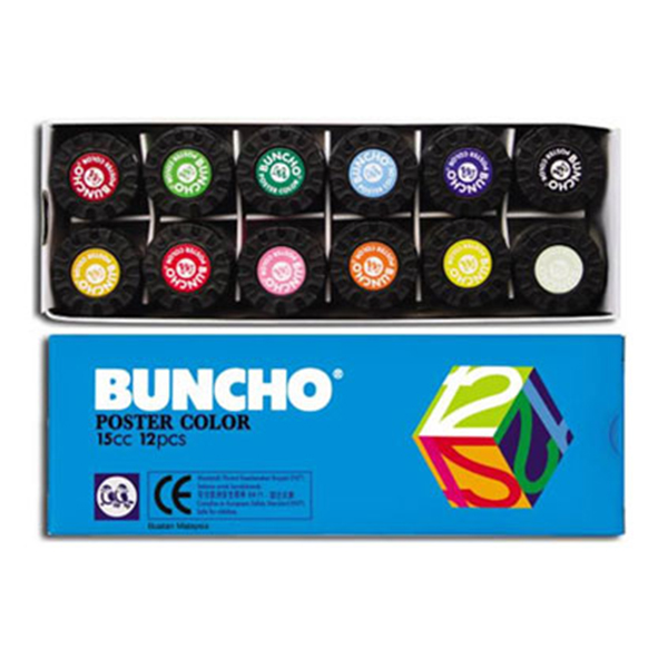 Buncho Poster Colour 15CC 12Pcs