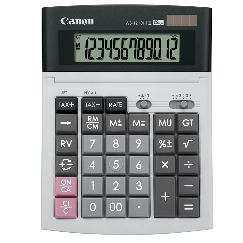 Canon WS-1210HI III Calculator