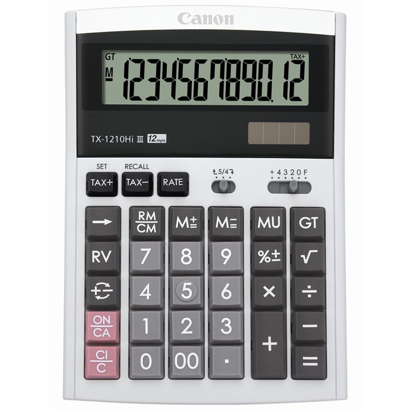 Canon TX-1210HI III Calculator