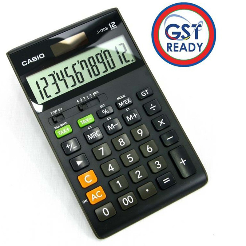 Casio J-120B 12Digit Gst Ready Tax Calculator