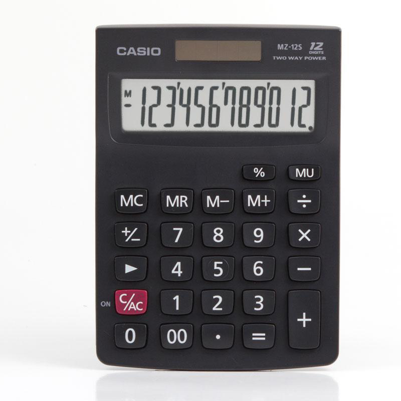 Casio MZ-12S 12 Digits Calculator