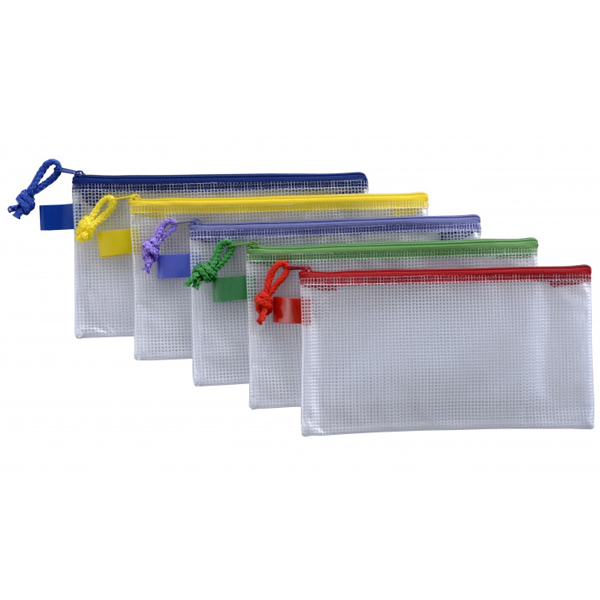 "CBE 013212 Zip Mesh Bag 9.5"" x 5"""