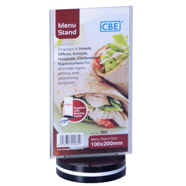 CBE 282 Menu Stand Flat Rotating Type