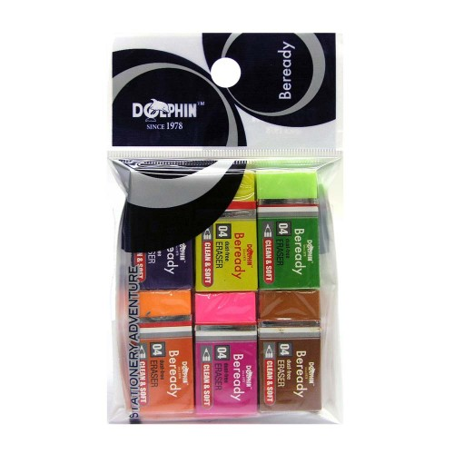 Dolphin 8202 Dust Free Eraser 6pcs