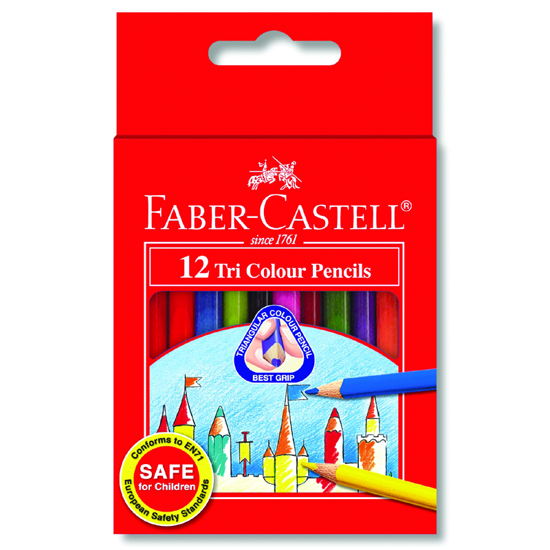 Faber Castell 12S Tri-Colour Pencil (Short)