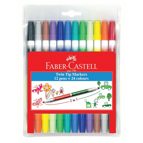 Faber Castell Twin Tip Markers 24S