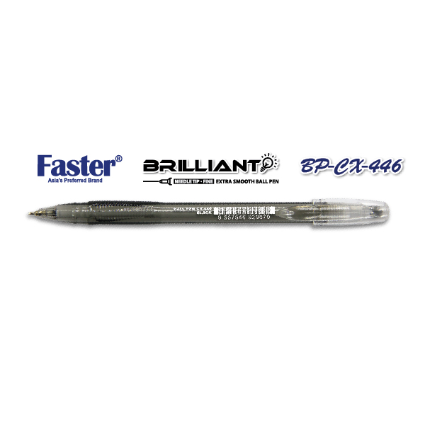Faster CX-446 Brilliant Fine Ball Pen - Black