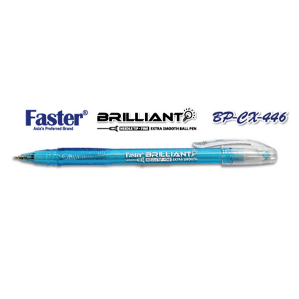 Faster CX-446 Brilliant Fine Ball Pen - Blue