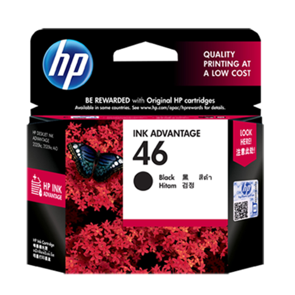 HP 46 Original Black Ink Cartridge