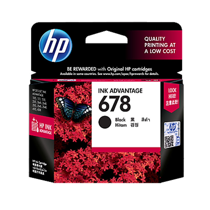 HP 678 Original Black Ink Cartridge