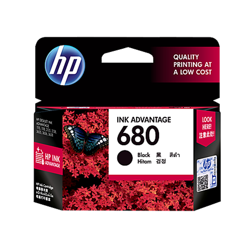 HP 680 Original Black Ink Cartridge