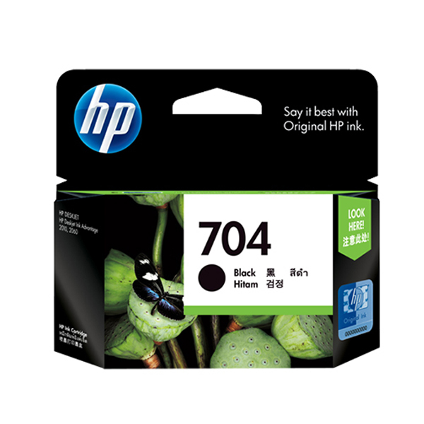 HP 704 Original Black Ink Cartridge