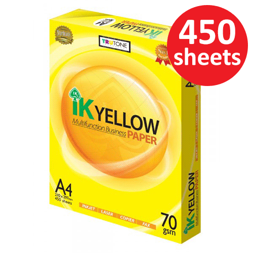 IK Yellow 70gsm A4 Paper 450's