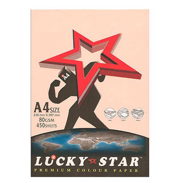 Lucky Star A4 Light Color Paper 80g 450's