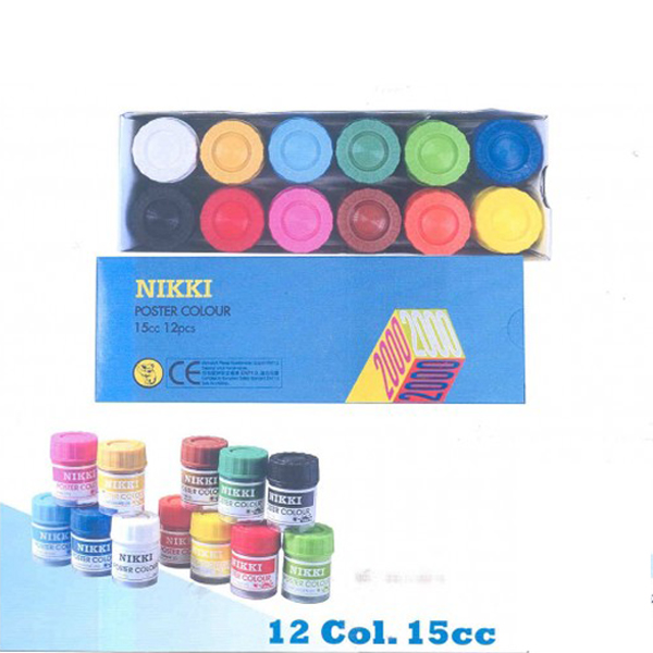 Nikki Poster Colour 15cc 12pcs