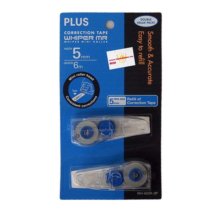 Plus WH605R-2P Correction Tape Refill
