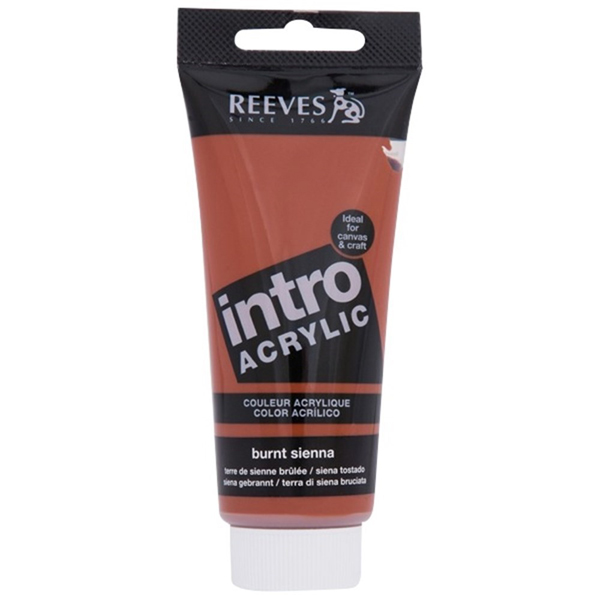 Reeves Intro Acrylic Tube 120ml Burnt Sienna