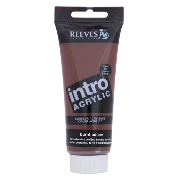 Reeves Intro Acrylic Tube 120ml Burnt Umber