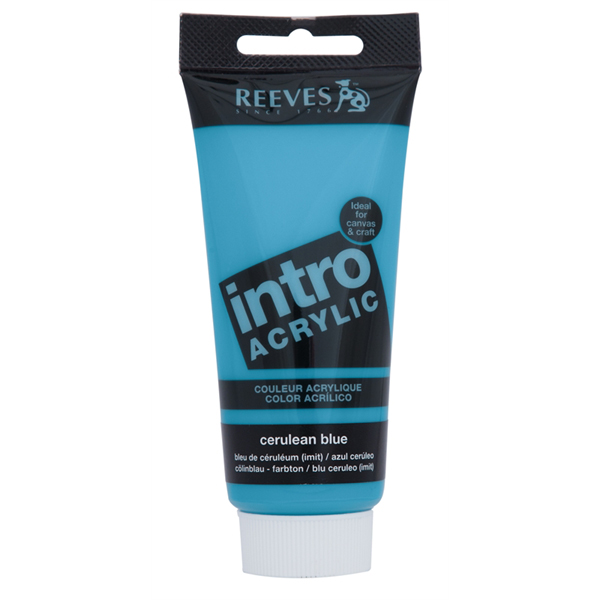Reeves Intro Acrylic Tube 120ml Cerulean Blue