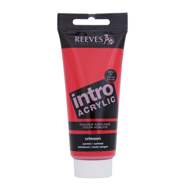 Reeves Intro Acrylic Tube 120ml Crimson