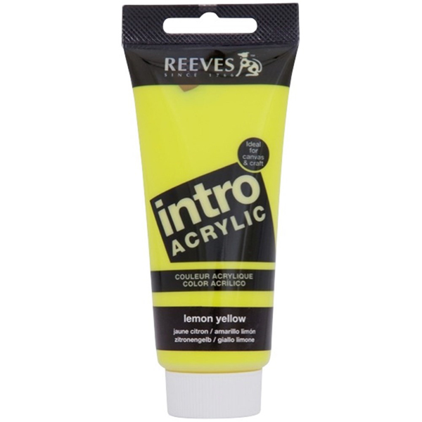 Reeves Intro Acrylic Tube 120ml Lemon Yellow