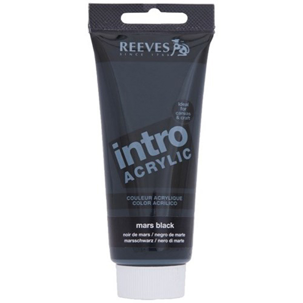 Reeves Intro Acrylic Tube 120ml Mars Black