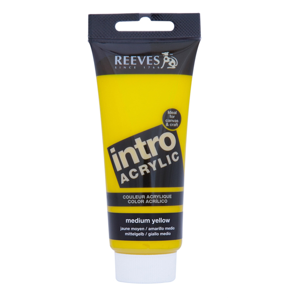 Reeves Intro Acrylic Tube 120ml Medium Yellow