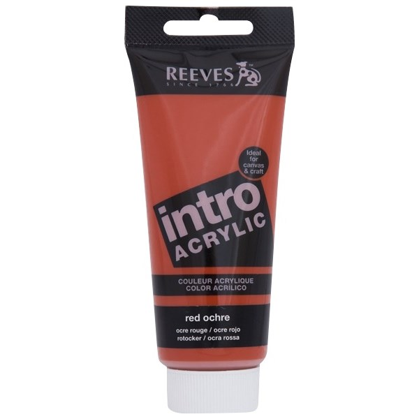 Reeves Intro Acrylic Tube 120ml Red Ochre