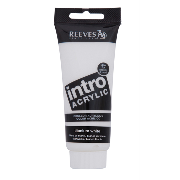 Reeves Intro Acrylic Tube 120ml Titanium White